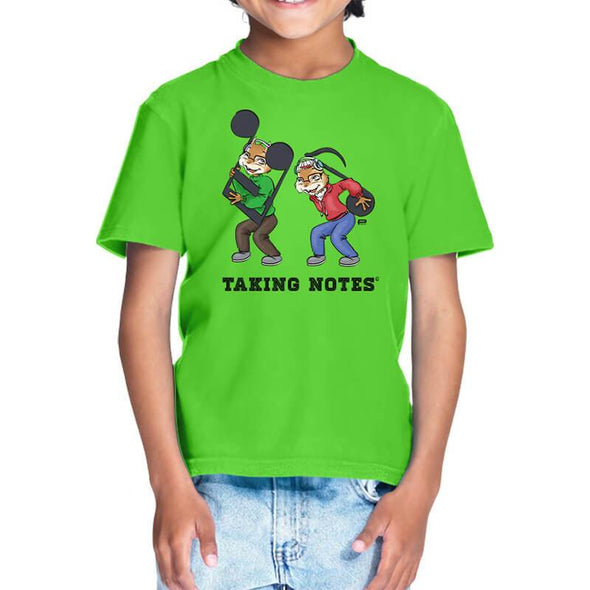 T-SHIRTS 1 / LIRIL GREEN Taking Notes T-Shirt For Kids FRYING PUN