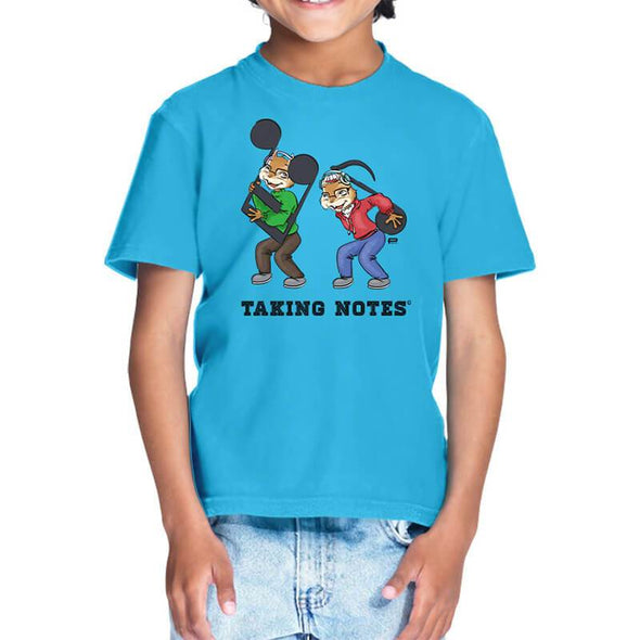 T-SHIRTS 1 / SKY BLUE Taking Notes T-Shirt For Kids FRYING PUN