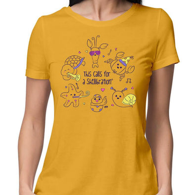 T-SHIRTS XS / YELLOW This Calls For A Shellibration T-Shirt For Women FRYING PUN