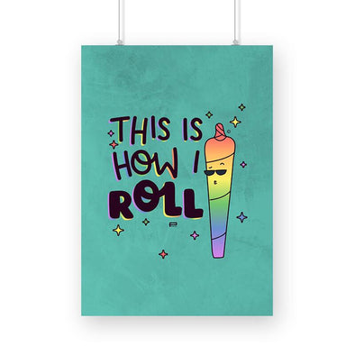 POSTERS A3 This Is How I Roll Poster FRYING PUN