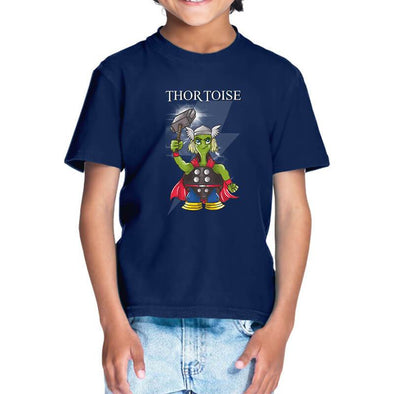 T-SHIRTS 1 / NAVY BLUE Thortoise T-Shirt For Kids FRYING PUN