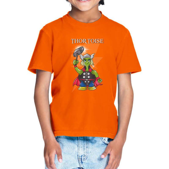 T-SHIRTS 1 / ORANGE Thortoise T-Shirt For Kids FRYING PUN