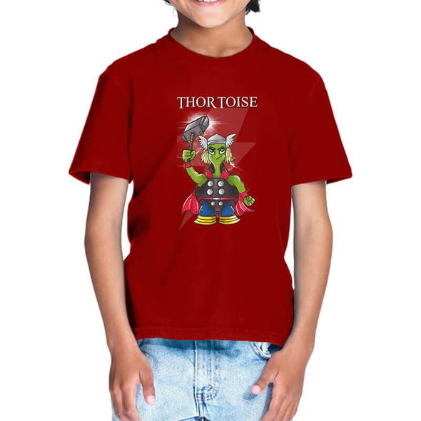 T-SHIRTS 1 / RED Thortoise T-Shirt For Kids FRYING PUN