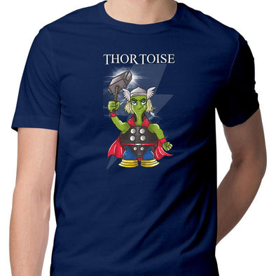 T-SHIRTS S / NAVY BLUE Thortoise T-Shirt For Men FRYING PUN