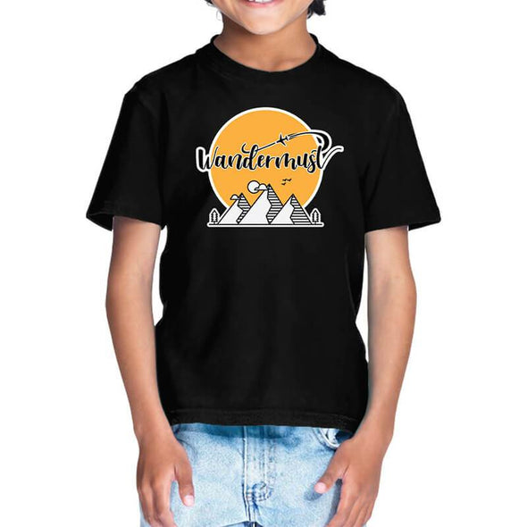T-SHIRTS 1 / BLACK Wandermust T-Shirt For Kids FRYING PUN