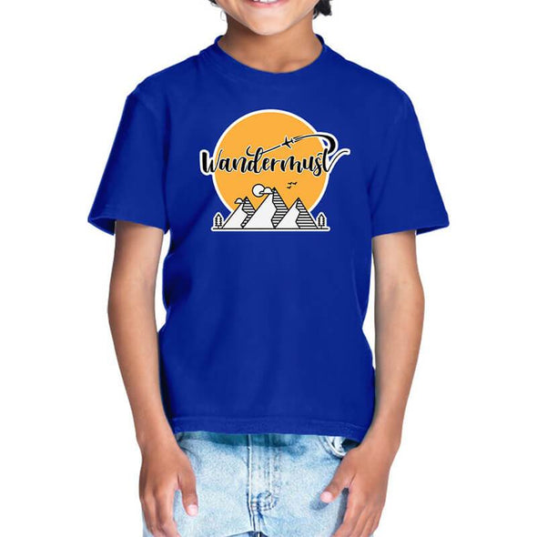 T-SHIRTS 1 / ROYAL BLUE Wandermust T-Shirt For Kids FRYING PUN
