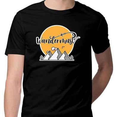 T-SHIRTS S / BLACK Wandermust T-Shirt For Men FRYING PUN