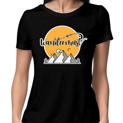 T-SHIRTS XS / BLACK Wandermust T-Shirt For Women FRYING PUN