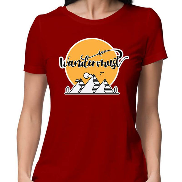T-SHIRTS XS / RED Wandermust T-Shirt For Women FRYING PUN