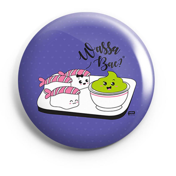 BUTTON BADGES PATTERNED Wassa Bae Button Badge