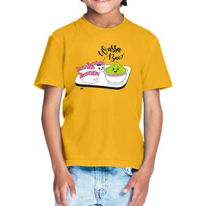 T-SHIRTS 1 / GOLDEN YELLOW Wassa Bae T-Shirt For Kids FRYING PUN