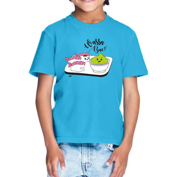 T-SHIRTS 1 / SKY BLUE Wassa Bae T-Shirt For Kids FRYING PUN