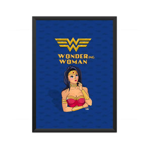 POSTERS A3 FRAMED Wondering Woman Poster FRYING PUN