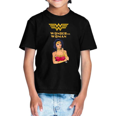 T-SHIRTS Wondering Woman T-Shirt For Kids FRYING PUN