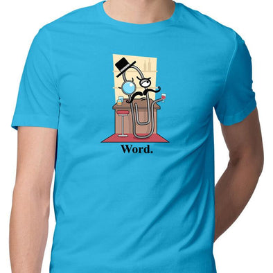 T-SHIRTS S / SKY BLUE Word T-Shirt For Men FRYING PUN