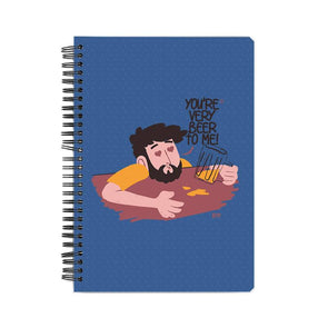 NOTEBOOKS You're Very Beer To Me Notebook FRYING PUN