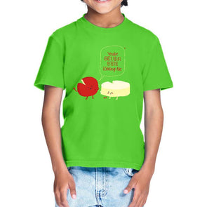 T-SHIRTS 1 / LIRIL GREEN You've Gouda Brie Kidding Me T-Shirt For Kids FRYING PUN