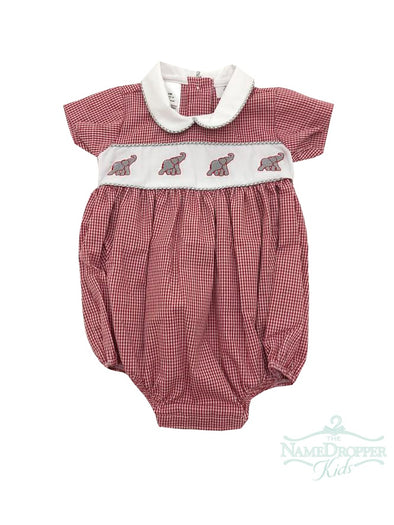 Lulu Bebe Elephant Emb Boy Bubble Red/Grey NOAH-Bama