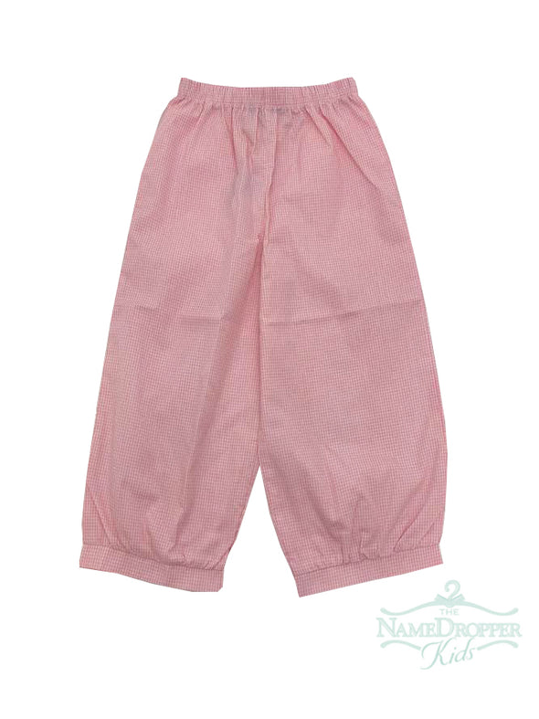 Name Dropper PL Eva  Basic Girl Mini Gingham Banded Pants ZBF19-BPAGBANA