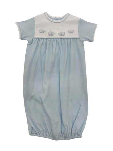 Treasured Memories Ecru/Blue Button On Short Set S1017