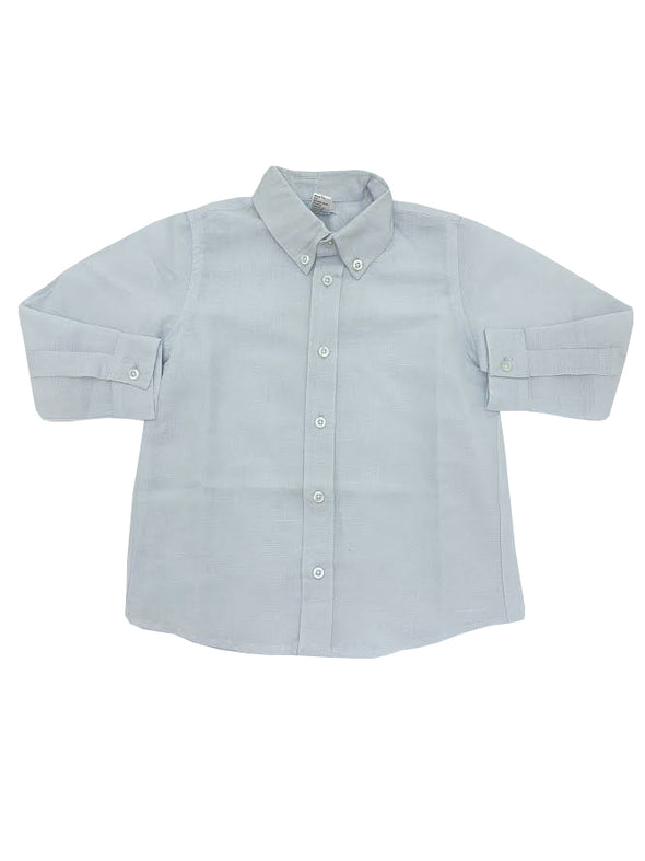 Me Me  Michael Long Sleeve Linen Shirt