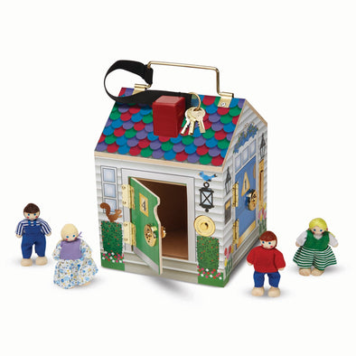Melissa & Doug Wooden Doorbell House