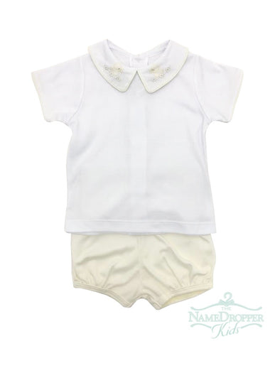 Auraluz Boy White Top W/Bloomer Yellow/Wh Duck 6814-YWDWH