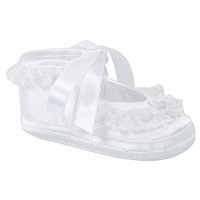 Baby Deer Paislee Infant White Satin Dress Shoes 2280