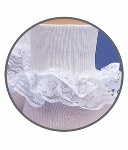 Jefferies White Double Lace Sock 1 Pair 2191