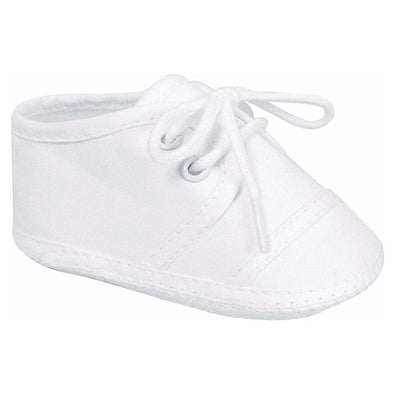 Baby Deer Taylor Infant White Lace-Up Oxfords 2150