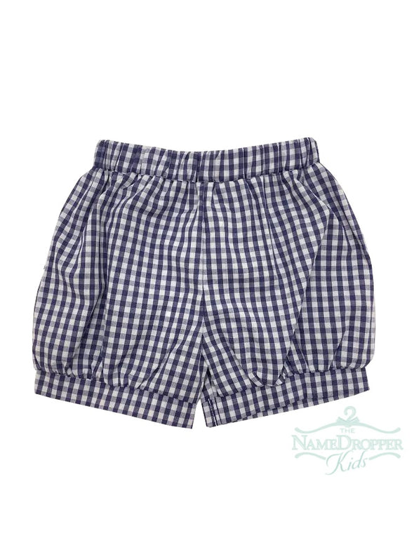 Name Dropper PL Basic Boy Short Banded Hem Check ZBF19-SHBBANA