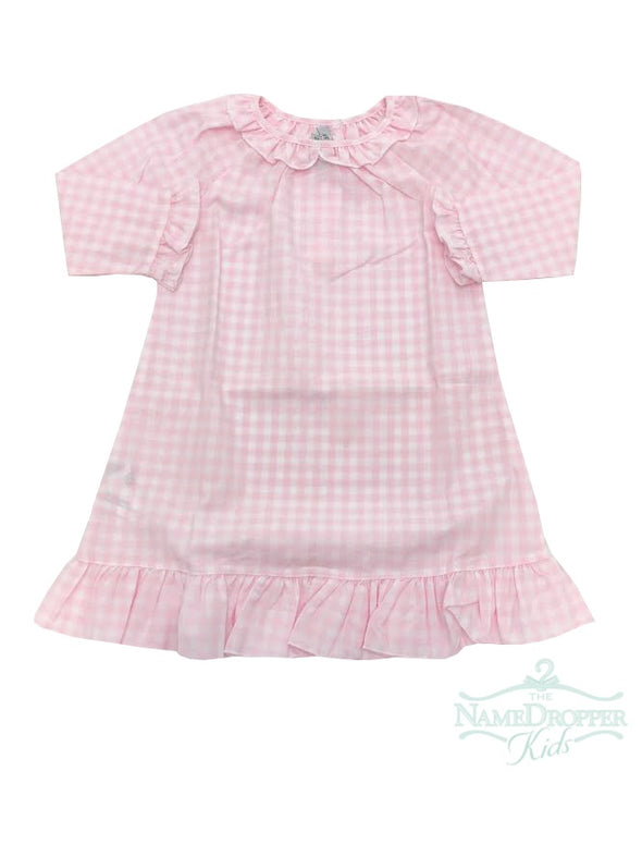Sweet Dreams Pink Gingham Gown GO43