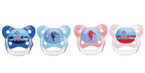 Dr. Brown's Blue/Pink Suction Free Pacifier