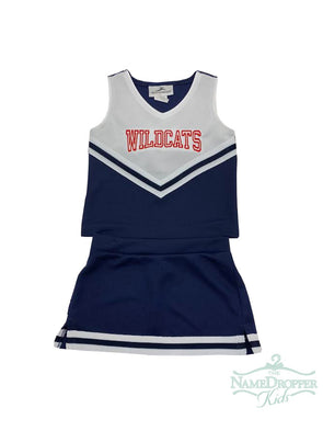 Motion Wear Cheer 2pc Navy W/Wildcats 9000/9106/9302