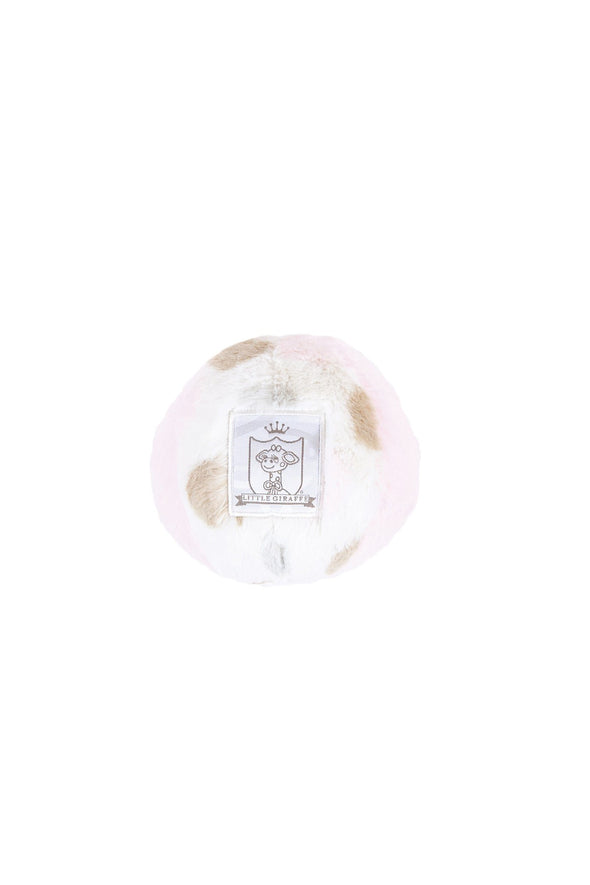 Little Giraffe Pink Luxe Dot Plush Chime Ball