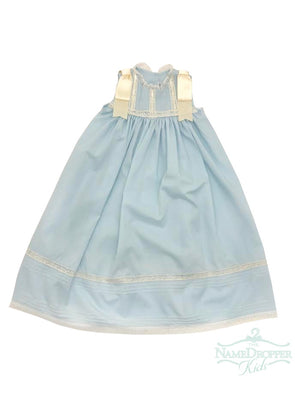 Treasured Memories XXX09 Blue/Ecru Sleeveless Dress