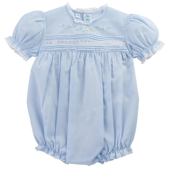 Feltman Brothers 770 Blue Floral Bullions and Lace Romper
