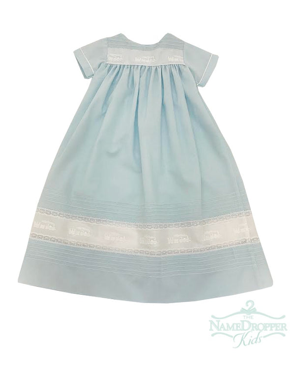 Treasured Memories Aqua/White Day Gown W/Train Insertion DG507