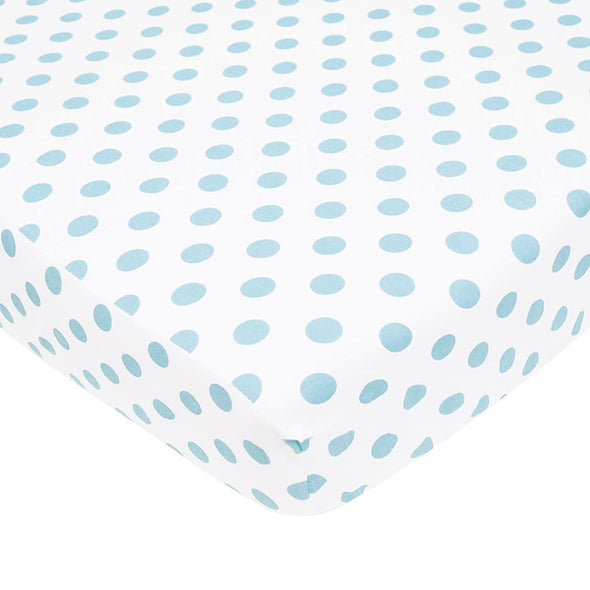 American Baby Spotted Percale Crib Sheet