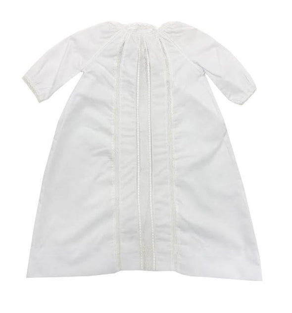 Linens By Loraine White Batiste Daygown w/ White Lace & Trim (White Slip Included) DGS-G2 WH INF