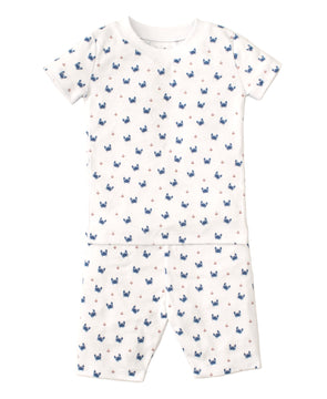 Kissy Kissy Crab Craze Blue Short Set PJ Snug KB603787I-K400
