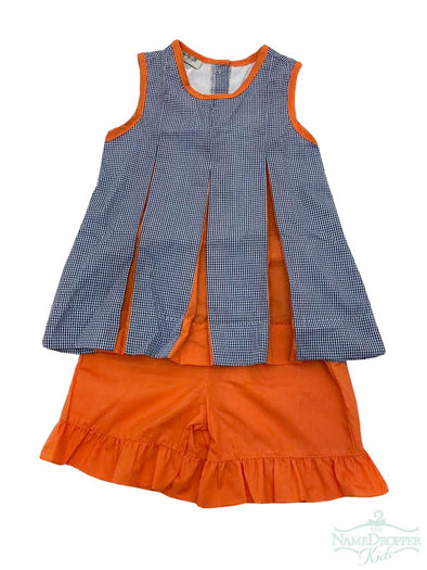 Magnolia Steel Pleated Spirit Set Orange & Navy