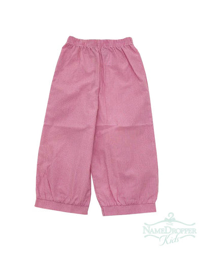 Name Dropper PL Basic Girl Mini Gingham Banded Pants ZBF19-BPAGBANA