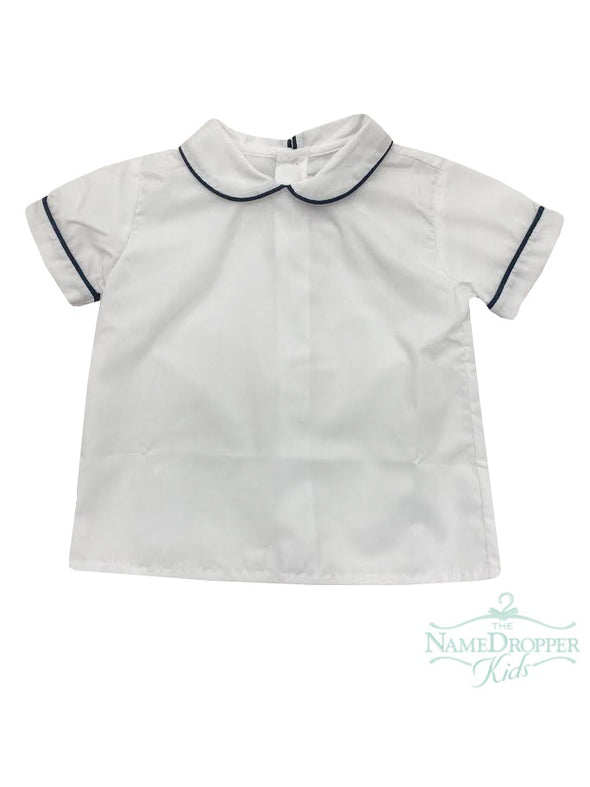 Lullaby set Weekend Windowpane B Sibley Shirt White W/Navy Pique Piping C-Sibley