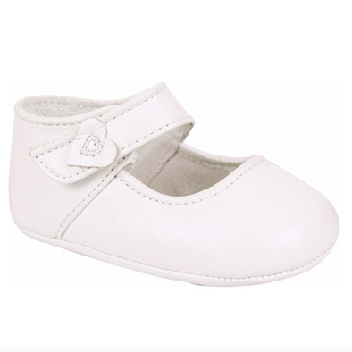 Baby Deer Hartlee Infant White Lambskin Soft Sole Mary Janes 4106