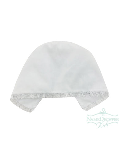 Auraluz White Hat With White Lace 141