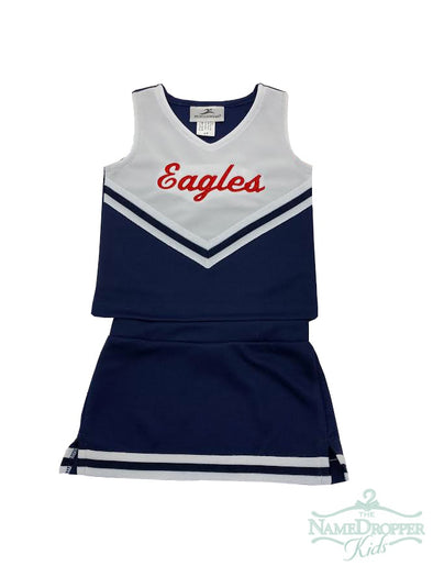 Motion Wear Cheer 2pc Navy W/Eagles 9000/9106/9302