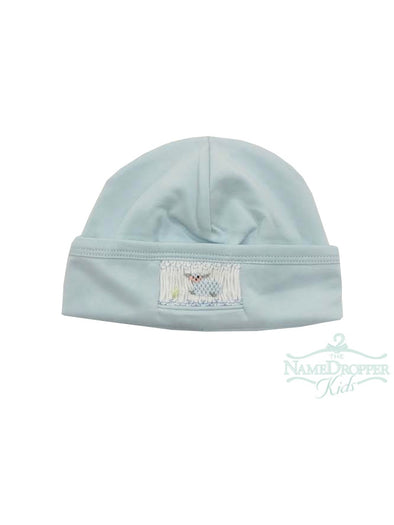 Baby Bliss Blue Hand Smocked Baby Lamb Hat BLB-218