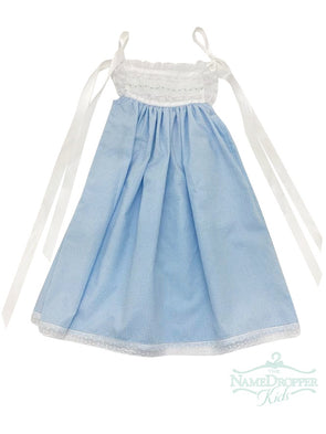 Treasured Memories Blue Check Dress XX518