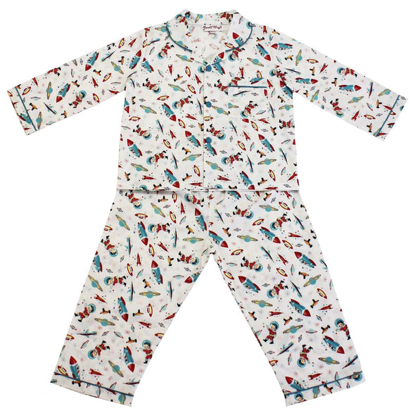 Powell Craft Hugo Rocket & Space Print Pajama